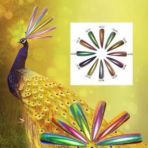 0.2g Paon Holographique Chameleon Nail Glitter Poudre Miroir Holo Laser Chrome Pigment Manucure Nail Art Décorations