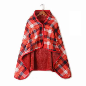 Plaid Cape Blankets 10 Colors Women Winter Tartan Scarves Cozy Checked Blanket Warp Shawl Heating Blankets 5pcs OOA7427