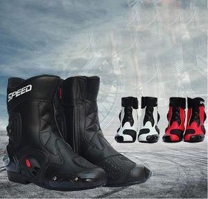 cresta de la ola de la motocicleta botas zapatos anti-caída de carreras impermeables botas de esquí de fondo cuatro estaciones zapatos transpirables moto botas de jinete