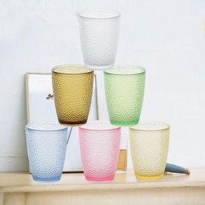 Gözlük Bira Kahve Mug Plastik İçme Şişe Renkli Suyu Bardaklar GGA3500-2 İçme 200ml-460ml Meyve Suyu tumblers Akrilik