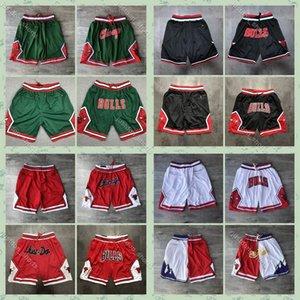 Authentic Just Don Pocket ShortsChicagoBulls ShortsMinnesotaTimberwolves PortlandTrail Blazers Basketball Shorts
