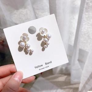 Coréia estilo 2019 novos brincos de pérolas brancas moda brincos de fábrica com pérola s925 jóia de agulha de prata para mulheres presente
