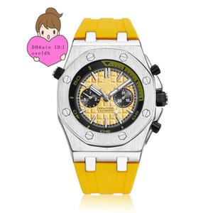 Venta directa de fábrica, reloj de alta calidad. Reloj completo. Reloj automático para hombre Dial Sports Glass Back Relojes