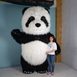 2.6M 3M Tall Надувной Panda костюм талисмана Костюм Косплей Реклама Настроить животное Mascotte костюмов для взрослого Maskot Kostume