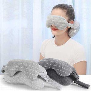 Портативная U-образная подушка многофункциональная 2 в 1 Маска для глаз подушка для шеи самолет офисные подушки для сна удобный домашний декор