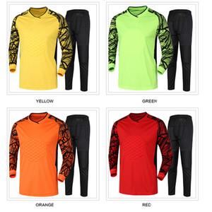 2020 Mens Soccer corta Maglia Portiere Set Quick Dry fai da te Portiere uniformi pantaloni Goal manica lunga Keeper Uniformi tuta