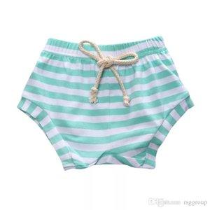 ins Kids Girls Stripes Bloomers 스트라이프 디자이너 레드 PP Lovely Fashions 반바지 바지 의류 노란색 녹색 여자 아기 키즈 KCPWP