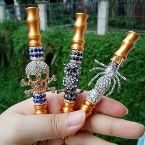 Fashion Handmade Inlaid Jewelry Alloy Hookah Mouth Tips Shisha Shisha Filter Metal Hookah Mouthpiece Mouth Tips