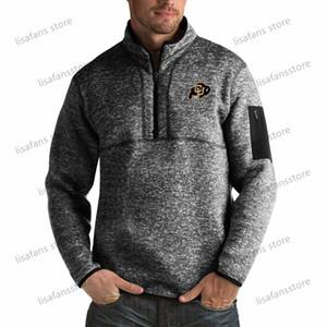 Colorado Buffaloes Pullover Felpe Mens Fortune Big alto Quarter-Zip Pullover Giacche cucito College Football Sports Felpe