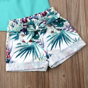 Emmababy Summer Newest Fashion Toddler Baby Girl Clothes Off Shoulder Tassels Tops Flower Print Short Pants 2Pcs Outfits Clothes