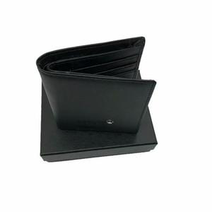 kutulu ücretsiz kargo ile yüksek kaliteli lüks tasarımcı MB cüzdan erkek iş deri marka erkek cüzdan siyah kısa kart sahibi