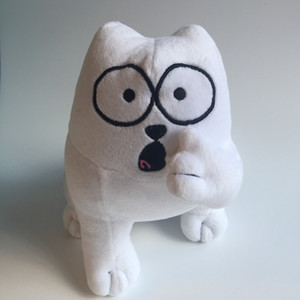 Aeruiy плюша мультфильм персонаж анима белой Саймона кошка игрушка кукла, чучело кошки игрушка, творческая градация подарок на день рождения для ребенка T191019