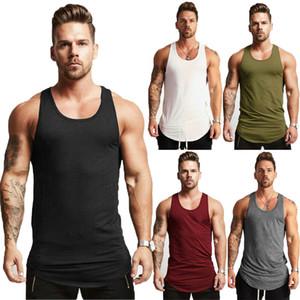 Débardeur sans manches T-shirt Muscle Un-shirt uni Hip Hop Bodybuilding GYM
