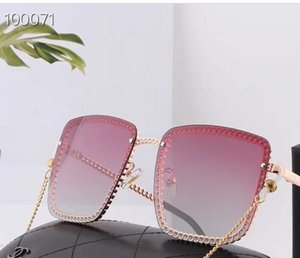 20120new fashion large frame chain polarized sunglasses for men and women
