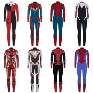 Erkek Kız Giyim Seti Marvel Avengers 4 Kostüm Sonbahar Çocuk Superhero Pijama Bebek Çocuk Giyim Spiderman Amerikan Kaptan Gençlik Giyim