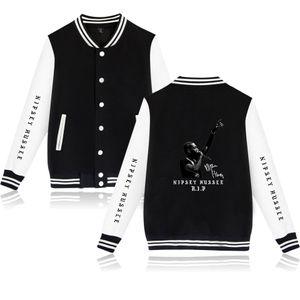 Hot nipsey hussle jacket Famoso rapero Chaquetas de béisbol hombres / mujeres Harajuku Sudadera nipsey hussle Sudaderas con capucha Chaqueta de algodón Abrigo