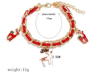 Christmas Europe and the United States fashion hot Christmas bracelet Santa Claus Christmas bell doughnut bracelet