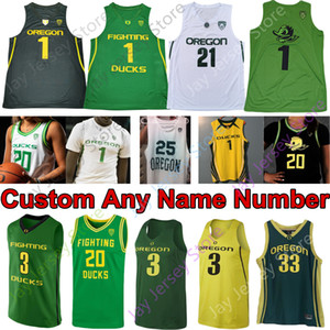 2020 Oregon Ducks Basketball Jersey NCAA Payton Pritchard Anthony Mathis Chris Duarte Juiston Francis Okoro Patterson Richardson Bol