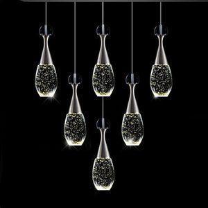 Современная роскошная хрустальная бутылка светодиодная люстра освещение золото металлов живущая комната светодиодные кулонные люстры лампа спальня подвесные огни