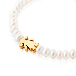 Uh nouvelle mode des femmes coquille garçon couleur argent bijoux en or de la qualité des perles et breloques fille perles bracelet Pulsera Mujer Osos
