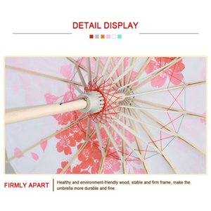 Chinese Style Floral Oil Paper Umbrella Art Painted Decorative Umbrella Parasol DIY Project Home Decor Accessories