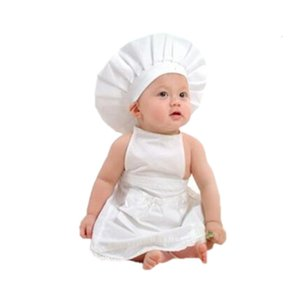Baby Props For Photography Newborn Props Chef Infant Shooting Superies Chef Hat Apron Set Cook Suit Tidler Beanie Cap Fotografie
