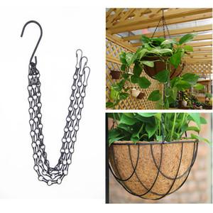 3 Point Garden Plant Flower Pot Basket Hanging Chain with Hooks Garden Plant Hanger Hanging Chains Flower Pot