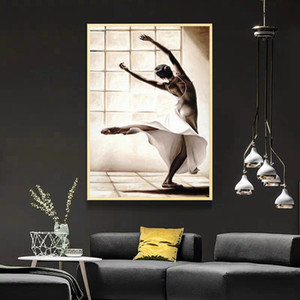 Canvas Painting Modern Ballet Dancing Girl HD Printed Canvas Art Prints Wall Art Home Decor Poster Pictures For Living Room Bedroom