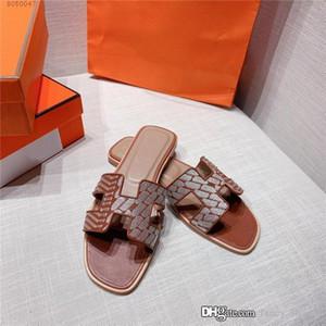 Mulher Chinelos Sandálias Moda Calçados Melhor Média Verão Qualidade sandálias salto Virar lâminas de couro Bomba Moda Flops