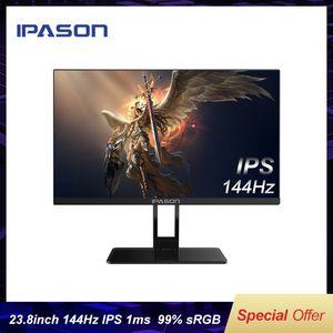 IPASON QP230I Little King Kong 144Hz Monitor 23.8 inch IPS Gaming Screen 1ms Response Desktop Computer LCD HD PS4 Game PUBG