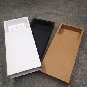 Coffret cadeau de tiroir en papier Kraft Brown Emballage de savon fait main Boîtes Partie boîte de rangement pour Jewerly / Candy / Artisanat