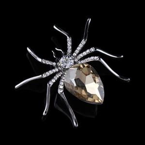 Qualitäts-Glaskristallspinnen-Brosche in Rot Violett Blau Farben Art und Weise hochwertiger Diamanten Schal Brosche