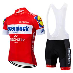 2020 Новый QUICK STEP команды задействуя Джерси геля площадки велосипед шорты набор Ropa Ciclismo мужской про лето Велосипеда Трико одежды спортивной форму Y122801