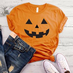 T-shirt Top Graphique Halloween Citrouille Tee Tshirt Harajuku Femmes Causal Coton Tops Tees Shirt Drop Shipping C19041702