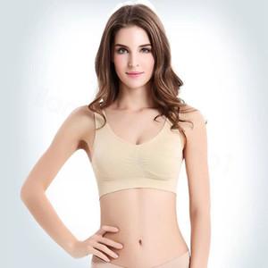 Sexy Ladies Underwear reggiseno senza giunte del reggiseno di Ahh Taglie Bra Sport Yoga Forma Bras pullover di Microfiber Bras corpo giubbotto FFA3685