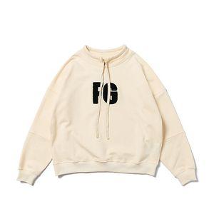 2020 Top Qaulity FG God apricot sweater Letter embroidery Hoodies Hip Hop Long Sleeve Hooded Hoody Mens Women Hoodies street Sweatshirts