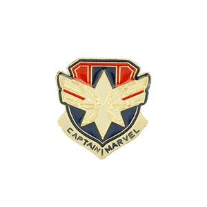 The 4 Enamel Pins Superhero Captain Marvel Carol Danvers Brooches for Women Men Fans Badge Souvenir Jewelry