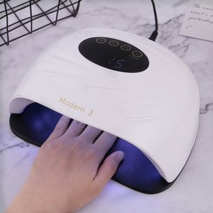 120W Portable UV Lamp 45pcs Leds Nail Dryer For All Gel Polish Dual Power Quick Drying Curing Lamp with Smart Automatic Sensor 200924