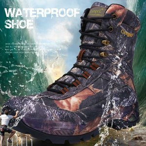 CUNGEl Mens Desert Combat Tactical boots hiking shoes Vintage Lace Up hiking boots Army Waterproof hunting