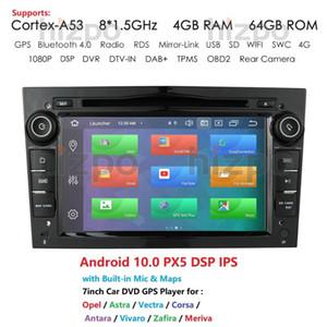 Android 10 Octa Core 2 DIN CAR Rádio GPS para Vauxhall Astra H G J Vectra Antara Zafira Corsa Vivaro Meriva Veda DVD leitor de DVD de carro