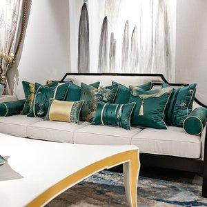 New Chinese classical jacquard pillow cushion sofa cushions office by pillowcase custom home furnishings soft loading