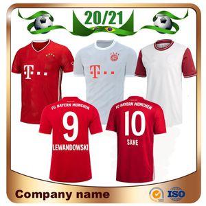 20/21 Bayern Monaco SANE MULLER Jersey di calcio 2020 rosso domestico LEWANDOWSKI JAMES calcio maglia away vendite uniformi GOTZE RIBERY terzo calcio