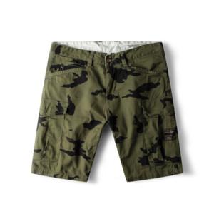 Dropshipping GustOmerD 2019 Marca 100% Algodão Shorts Homens Imprimir Casual Jogger Homens Shorts Bolso Botão Fly