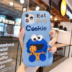 mytoto 3D Cute Cartoon Cookies ELMO Sesame Street Silicone soft phone case for iphone X XR XS MAX 6s 7 8 plus 11 pro Max coque Cover