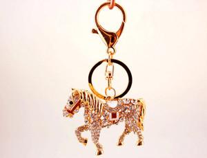 120pcs-Sevimli Elmas Pony Şekli Araç Anahtarlık Çantalar Aksesuarlar At Metal kolye Hayvan Craft Hediye HYS119