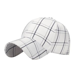 hats 2020 summer hot sale Women Men Cotton Baseball Cap Hat Adjustable Plaid Printed Casual Sport Hats outdoor sun #F18#6