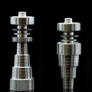 Wholesale- GR2 Titanium Nail Domeless 10mm 14mm 18mm Titanium Nails Male Female 6 in 1 Quartz Nail Dome
