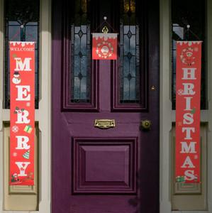 Красочные рождественских ткани Куплеты дверь стена висит знак для сада Открытого Merry Christmas Decoration Баннер Wall Подвеска LXL634-L