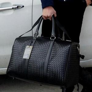 El cuero impermeable de la mano del equipaje del viaje del bolso de la PU del hombro del balanceo maleta trolley equipaje WomenMen bolso libre Adolescente Duffle totalizadores
