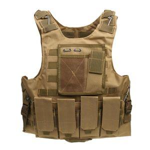 New Outdoor Men's Tactical Vest Adjustable Size Outdoor Fishing Hunting Vest Pocket Jackets Mutiple 5 Colors Sports Mesh Z0Q5